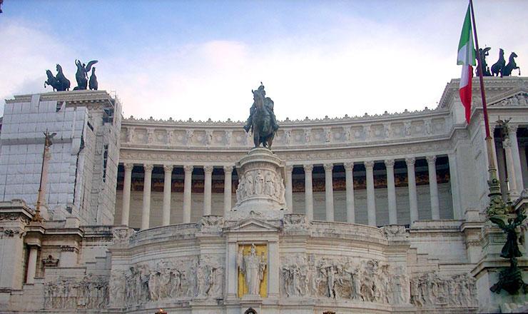 חופשה ברומא - אנדרטת ויטוריו עמנואל