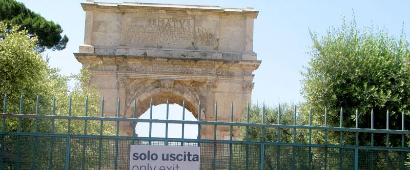 חופשה ברומא - שער טיטוס