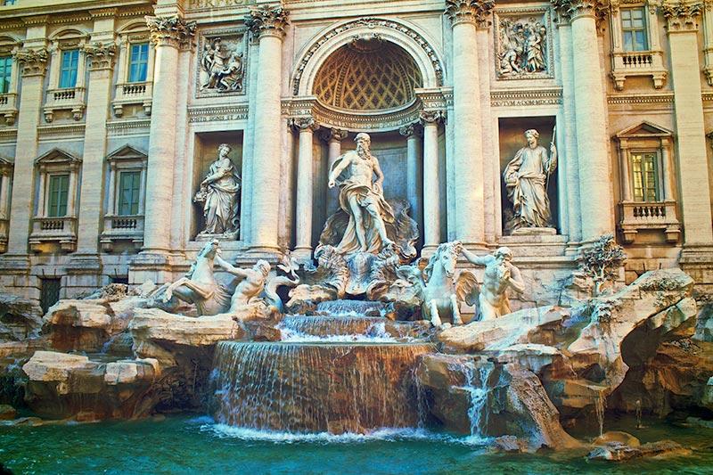 חופשה ברומא - מזרקת טרווי