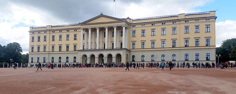 טיול קרוואנים בנורווגיה - הארמון באוסלו