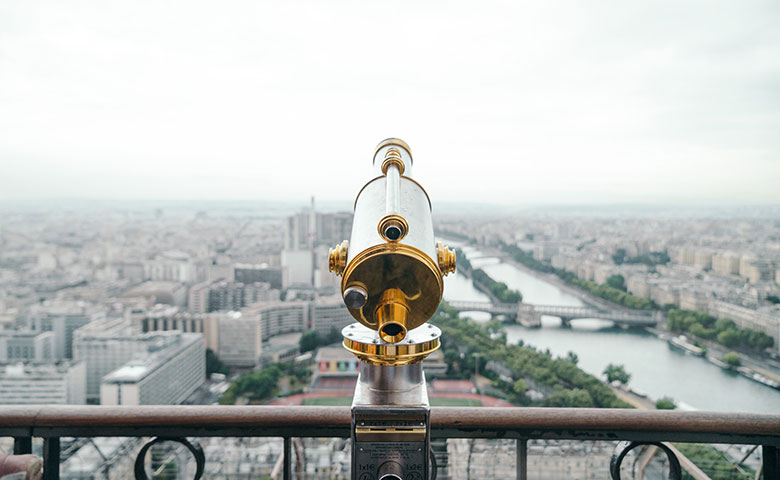 חופשה בפריז - תצפית ממגדל אייפל