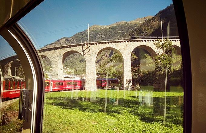 גשר ברוסיו Brusio Railway Viaduct המפורסם