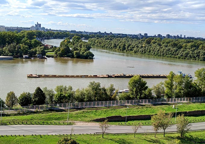 תצפית על מפגש הנהרות ממצודת בלגרד